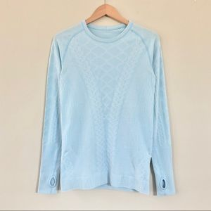 Lululemon Rest Less Pullover Tee Caspian Blue